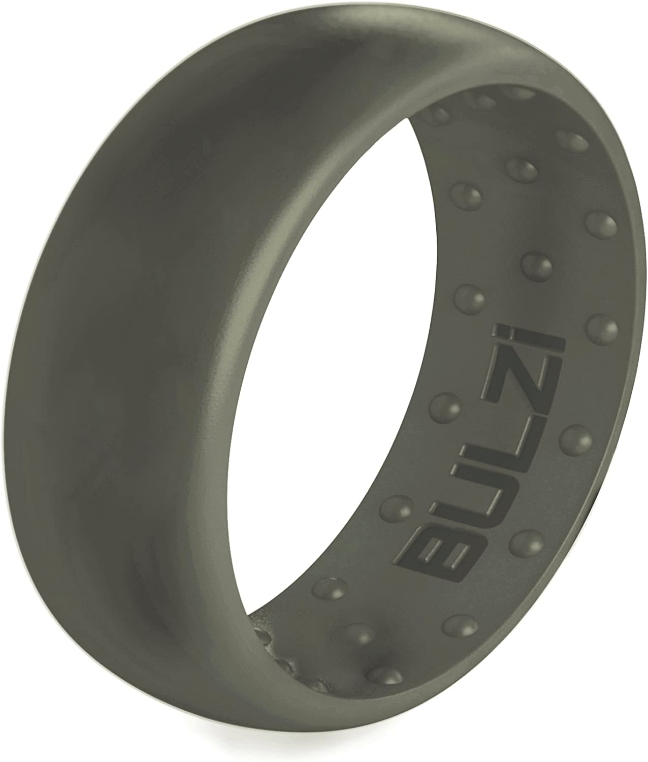 BULZi Wedding Bands Men/'s and Women/'s Rings Massaging Comfort Fit Premium Silicone Ring with Airflow Breathable Flexible Work Safety Comfort