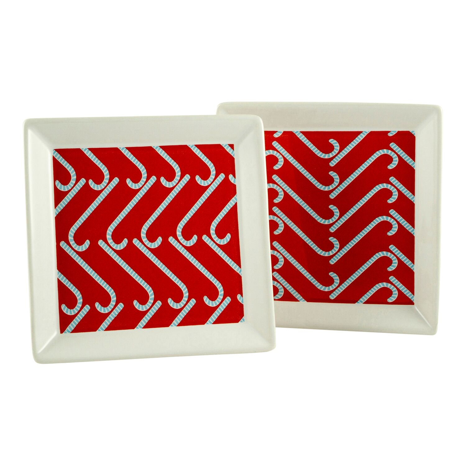 Candy Cane Appetizer Plates