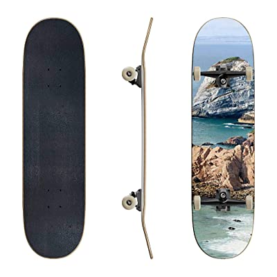 EFTOWEL Skateboards Cabo da roca Mountain Stock Pictures Royalty Free Photos Images Classic Concave Skateboard Cool Stuff Teen Gifts Longboard Extreme Sports for Beginners and Professionals : Sports & Outdoors