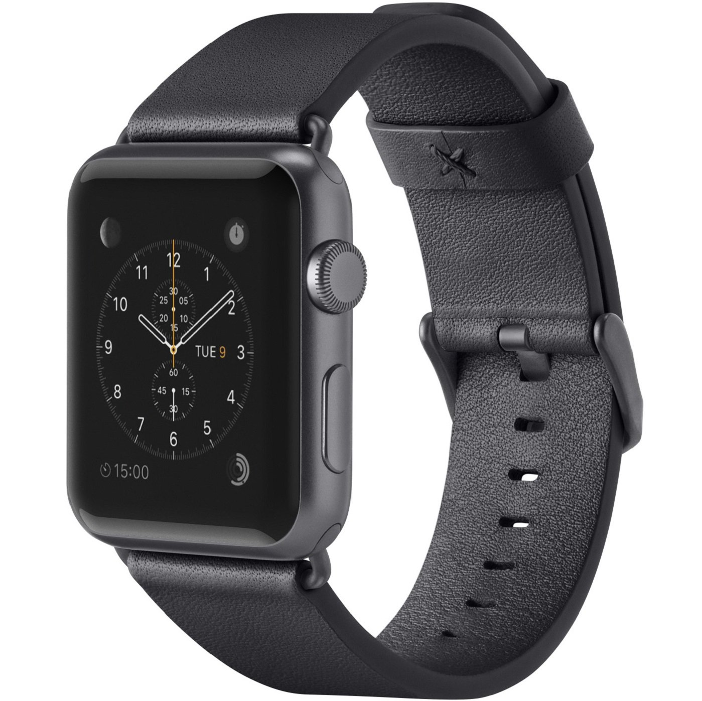 Belkin Classic Leather Wristband for Apple Watch Edition,Apple Watch Nike+,Apple Watch Series 1,Apple Watch Series 2,Apple Watch Series 3, Apple Watch Sport, Black