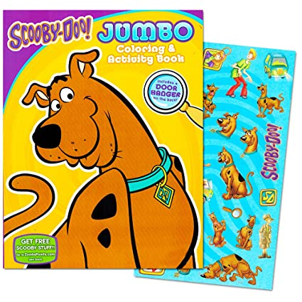 Scooby Doo Coloring Book With Stickers 96 Pages