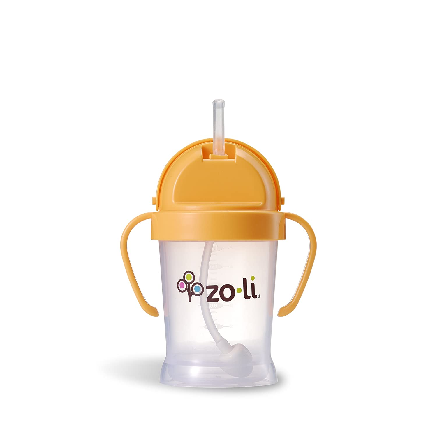 ZoLi BOT Straw Sippy Cup - Orange 6 oz Zoli Baby A-BF09PPO001