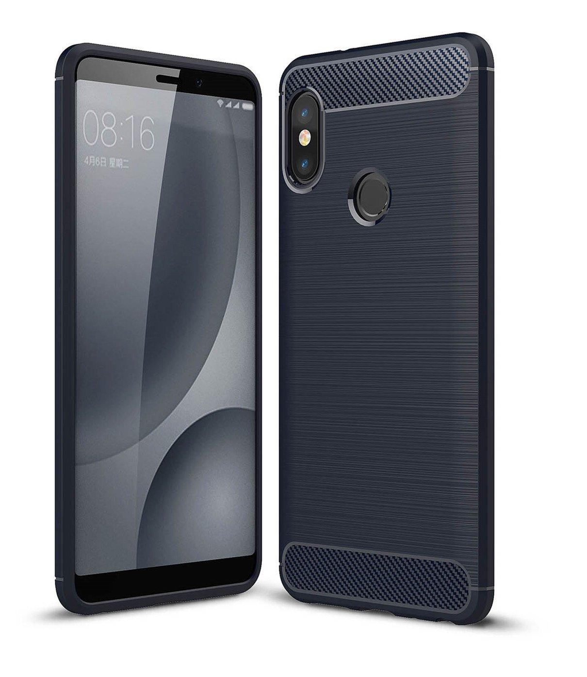 SPAK Xiaomi Mi 6X, Xiaomi redmi Uwagi 5 Pro Case, Ultra Thin ochronna powłoka TPU Silicone Case dla Xiaomi Mi 6X, Xiaomi redmi Uwagi 5 Pro (niebieski)