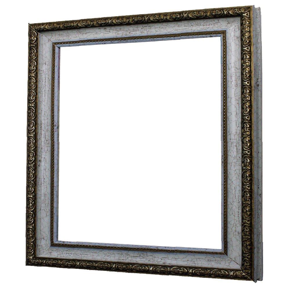 アルナ デッサン 正方形 水彩 刺繍 樹脂 額縁 1644 ホワイト 13686 400×400mm B01CFURWMQ 400×400mm ホワイト ホワイト 400×400mm