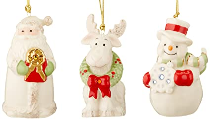 lenox gemmed ornaments set of 3 - Lenox Christmas Decorations