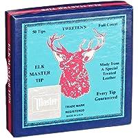 Tweeten Elk Master - Puntas para Tacos de Billar (Piel Suave, Caja de 50 Unidades, 12 mm, 13 mm y 14 mm)