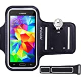 Samsung Galaxy S7 S6 S5 Armband, (with Reflective Strap + Key Holder) Mpow Sport Running Armband for Samsung Galaxy S5/ S6/ S7/ S6 Edge (Not for S7 Edge) Adjustable Size, Safe Design, Suitable for Biking, Running, Jogging, Walking, Hiking, Workout, Exercise