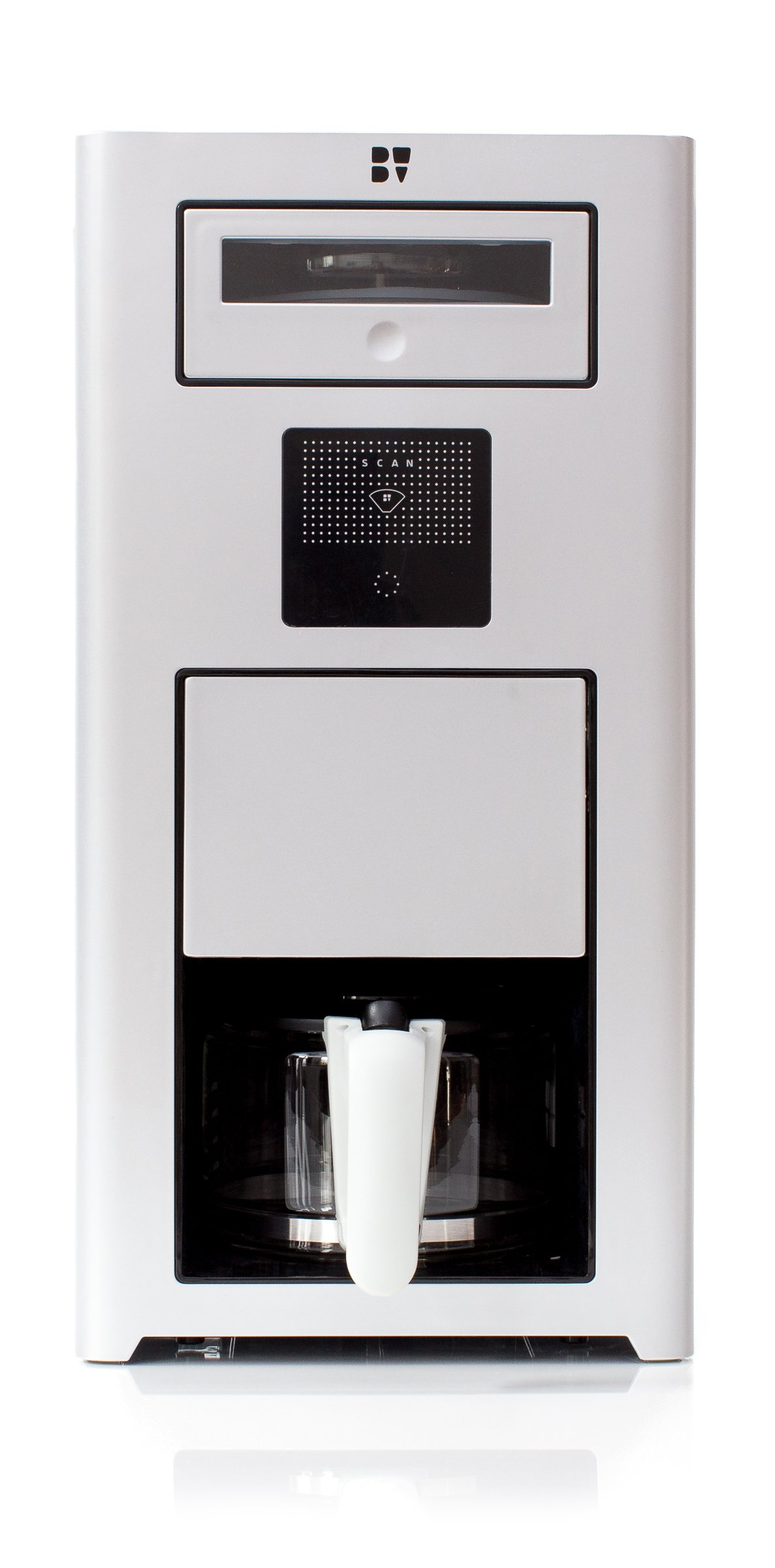 Bonaverde Silver Roast-Grind-Brew Coffee Machine, Silver with Black Accents