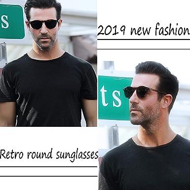Amazon.com: Gafas de sol redondas vintage para hombres y ...