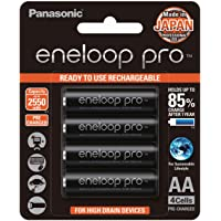 Panasonic BK-3HCCE/4BT Eneloop Pro AA Ni-MH High Capacity Rechargeable Batteries 4 Pack