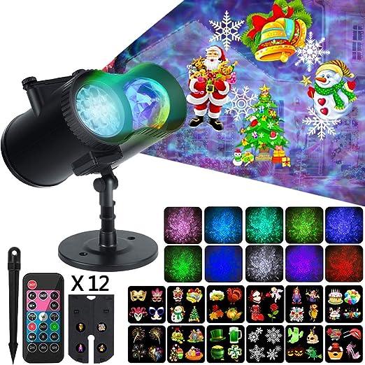 Amazon.com: Proyector de luces de Navidad para Halloween, 2 ...