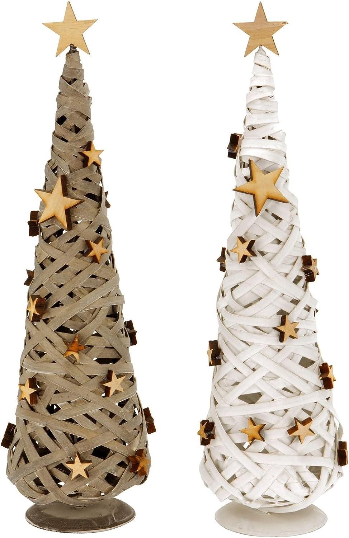 LIHAO Lot de 27 Pendentifs de Sapin de No/ël en Bois Grelots Corde pour DIY D/écoration Ornements Suspendues en Foeme de Flocon de Neige Renne avec Feutres
