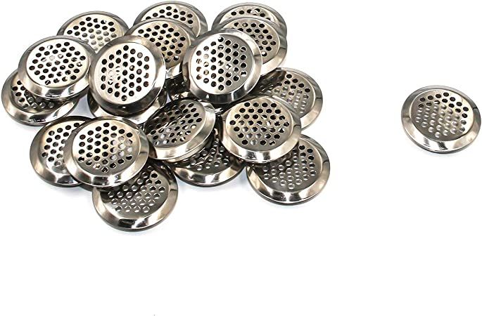 25mm Dia Stainless Steel Soffit Air Vents Round Vent Mesh Set of 10 Silver
