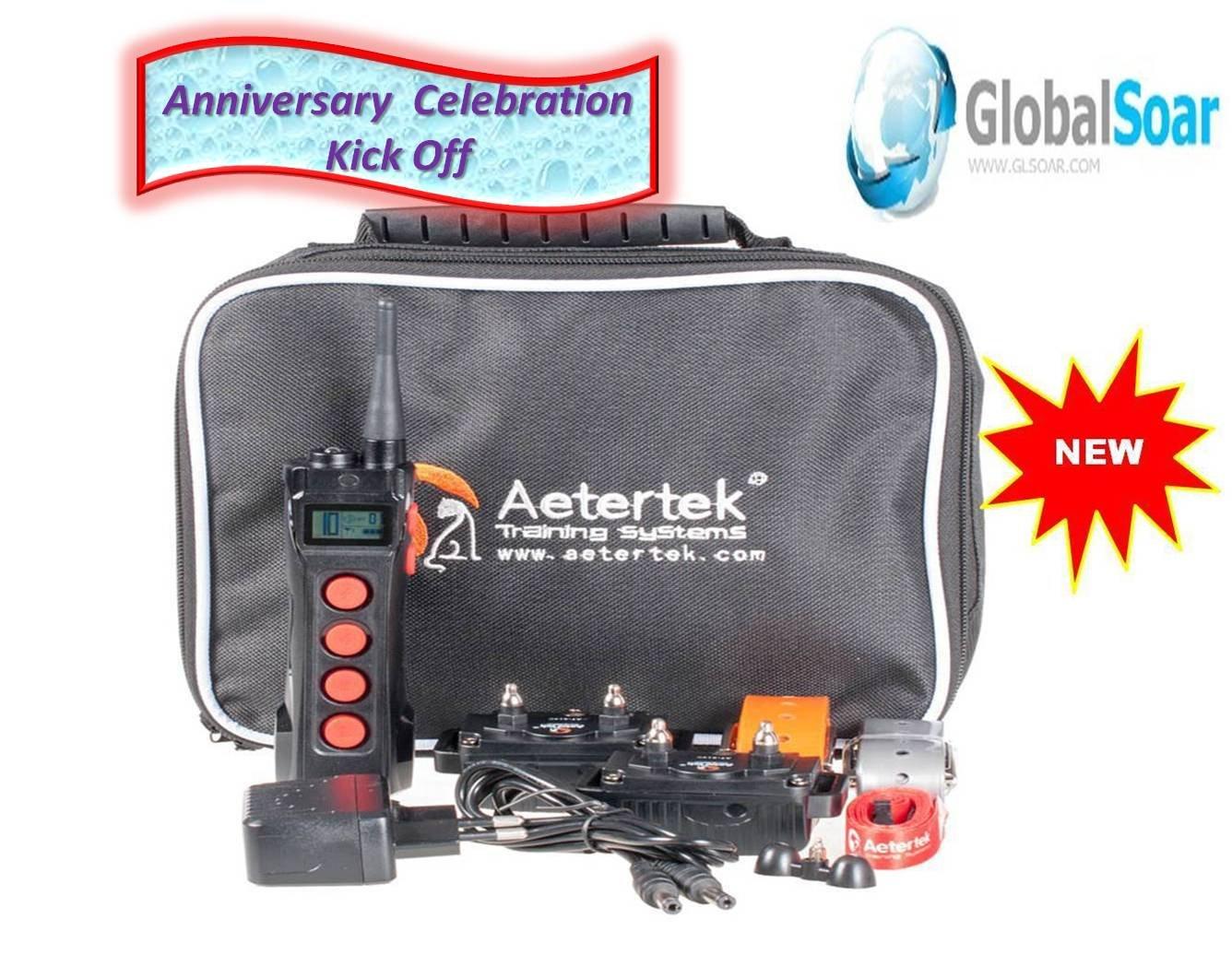 Aetertek 919C-2 1100 Yard 10 Level 2 Dogs Training Anti Bark & Waterproof Collar by Aetertek