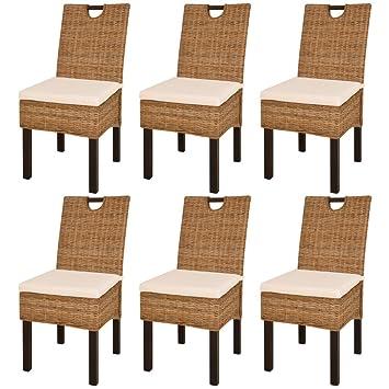 Fijo Night Set/4 sillas de comedor ratán essstuhl de mimbre de ...