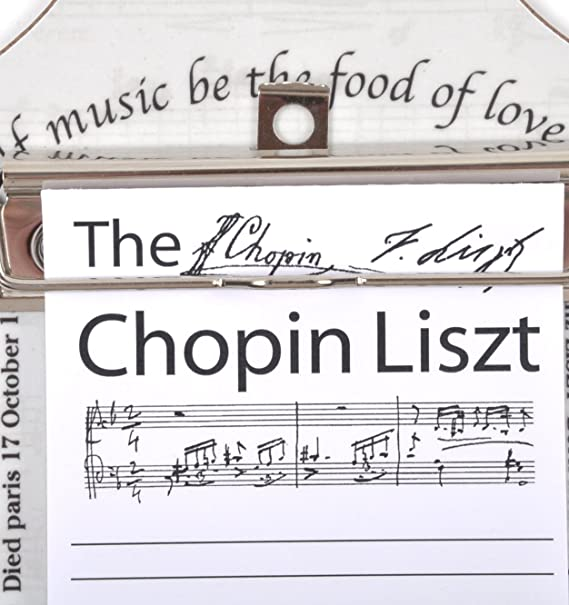 Chopin Liszt - Shopping List Memo Pad for Composer / Musician / Orchestra: Amazon.es: Instrumentos musicales