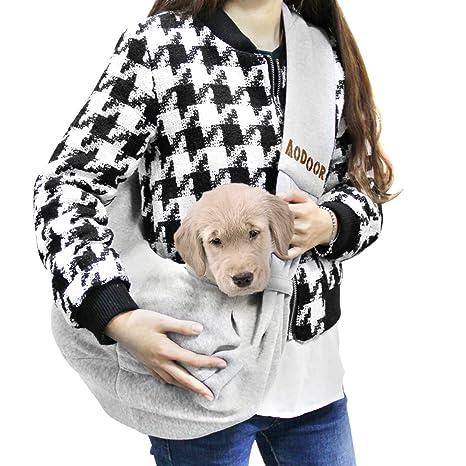 Aodoor Reversible Pet Sling Bag Bolso de Hombro Pequeno Perro Gato Cachorro Bolso Bolsa (gris