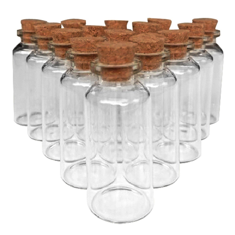 Amazon.com : Kate Aspen, Square Glass Favor Jar, with Cork Stopper ...