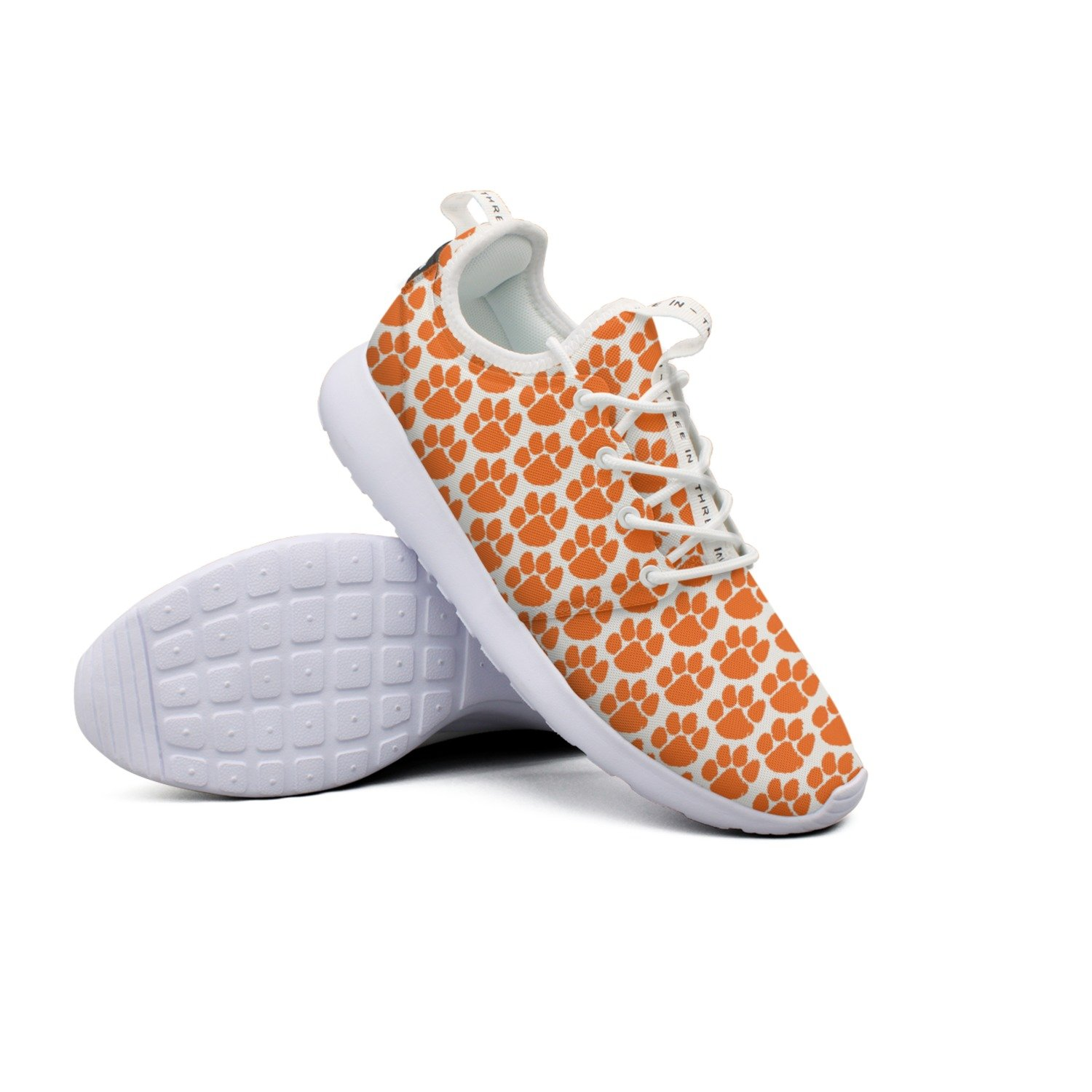 Large Paw Fabric Woman's Net Casual Running Shoes Unique Lovely