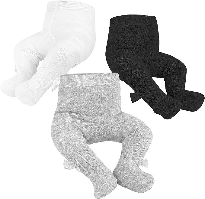 nobrand Oiotuyi Baby Strickstrumpfhose Nahtlose Baumwollgamaschen 3er Pack Strumpfhose f/ür M/ädchen Neugeborene Kleinkinder Kleinkinder 0-2Y