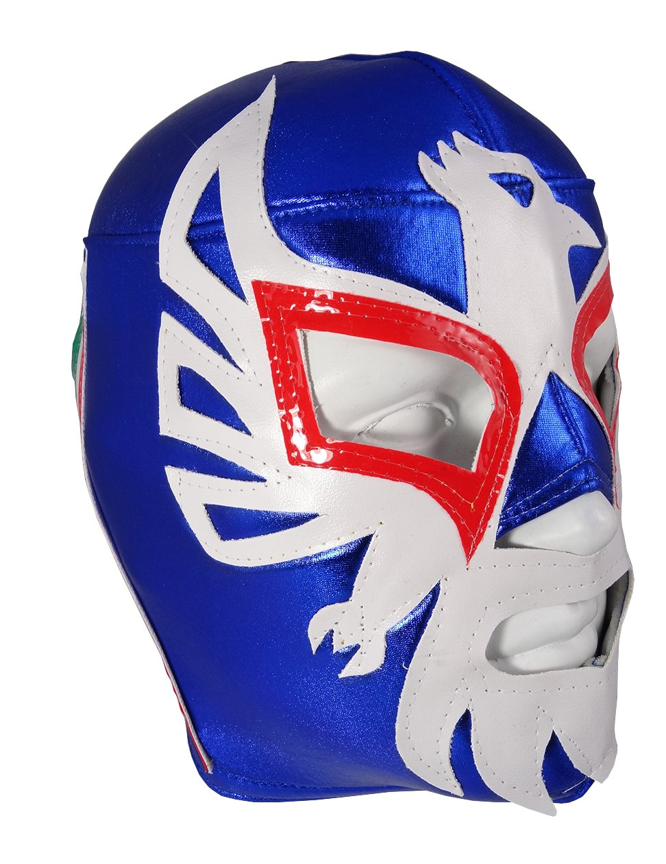MEXICANO Adult Lucha Libre Wrestling Mask (pro-fit) Costume Wear - Blue/White by Mask Maniac