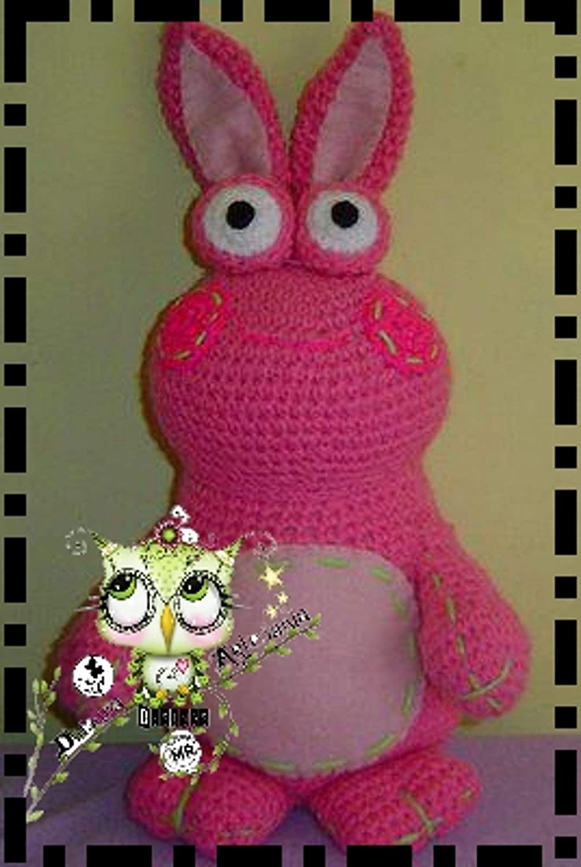 CONEJO ROSA AMIGURUMI (Bebé, crochet, ganchillo, muñeco, peluche, niño, niña, lana) : Amazon.es: Handmade