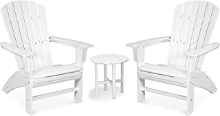 product image for Trex Outdoor Furniture Yacht Club 3-Piece Curveback Adirondack Chair Set with Side Table