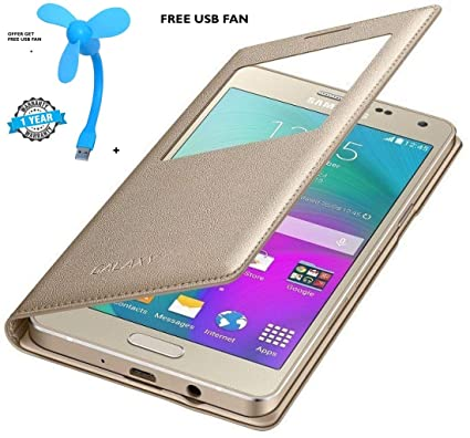 new style aef34 f2c65 SUCH Flip Cover for Samsung J7 (Gold)