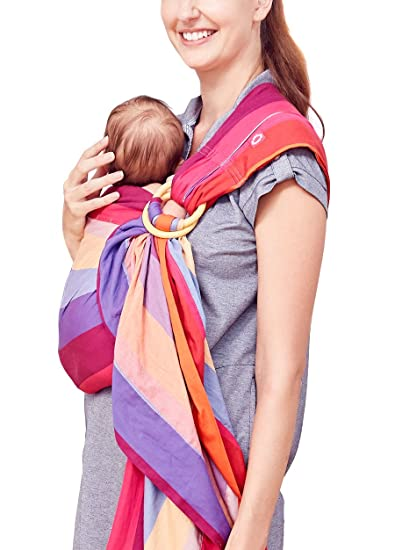 9e5fc22dc6e Amazon.com   Mamaway Ring Sling Baby Wrap Carrier for Infants and Newborns