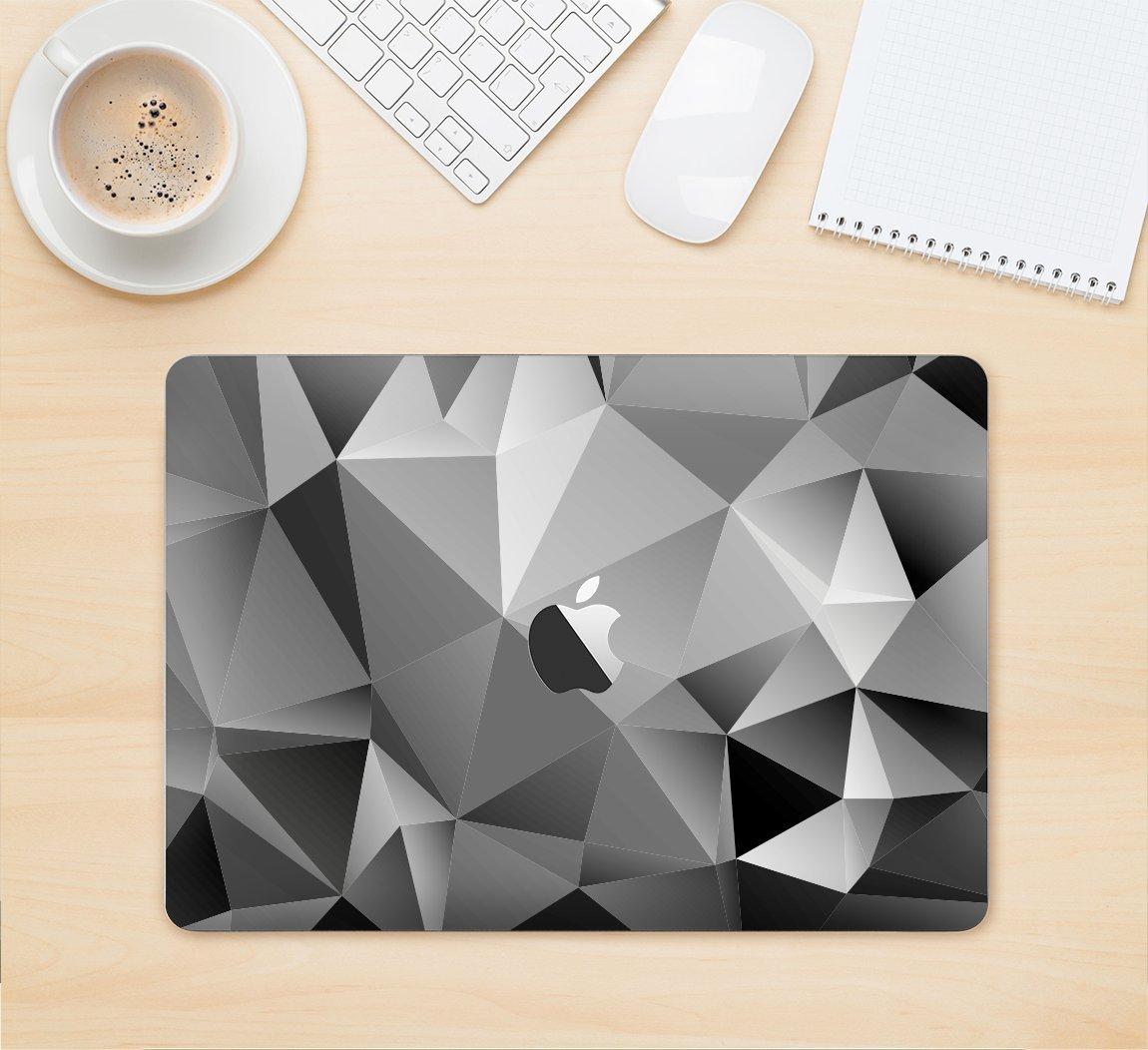 The Vector Black & White Abstract Connect Pattern Full-Body Wrap Skin Kit for the 13 Inch Apple MacBook Air