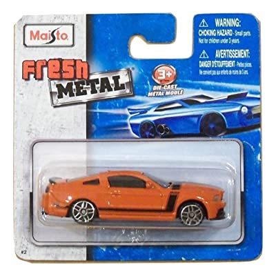 Maisto Fresh Metal Die-Cast Vehicles ~ 2013 Ford Mustang Boss 302 (Orange with Black Accents): Toys & Games