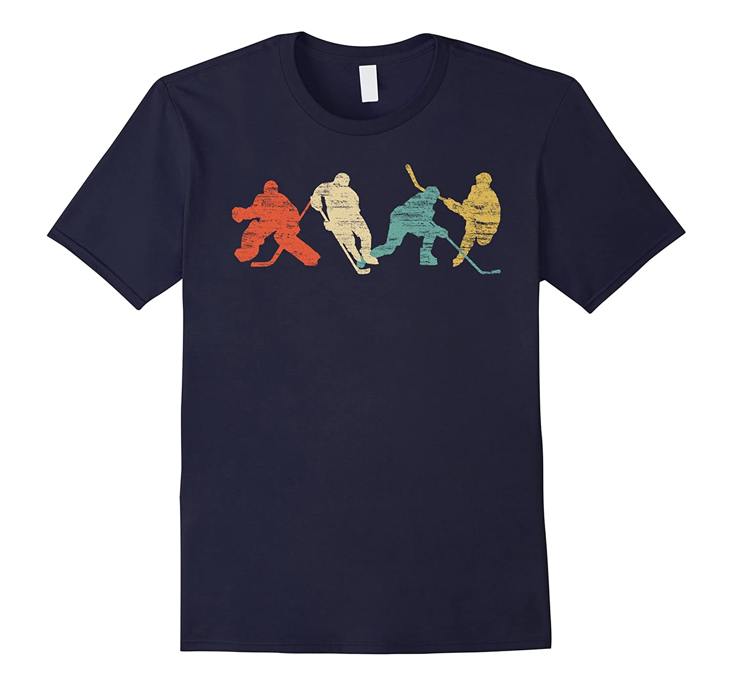 Classic Vintage Style Ice Hockey T-Shirt-ah my shirt one gift