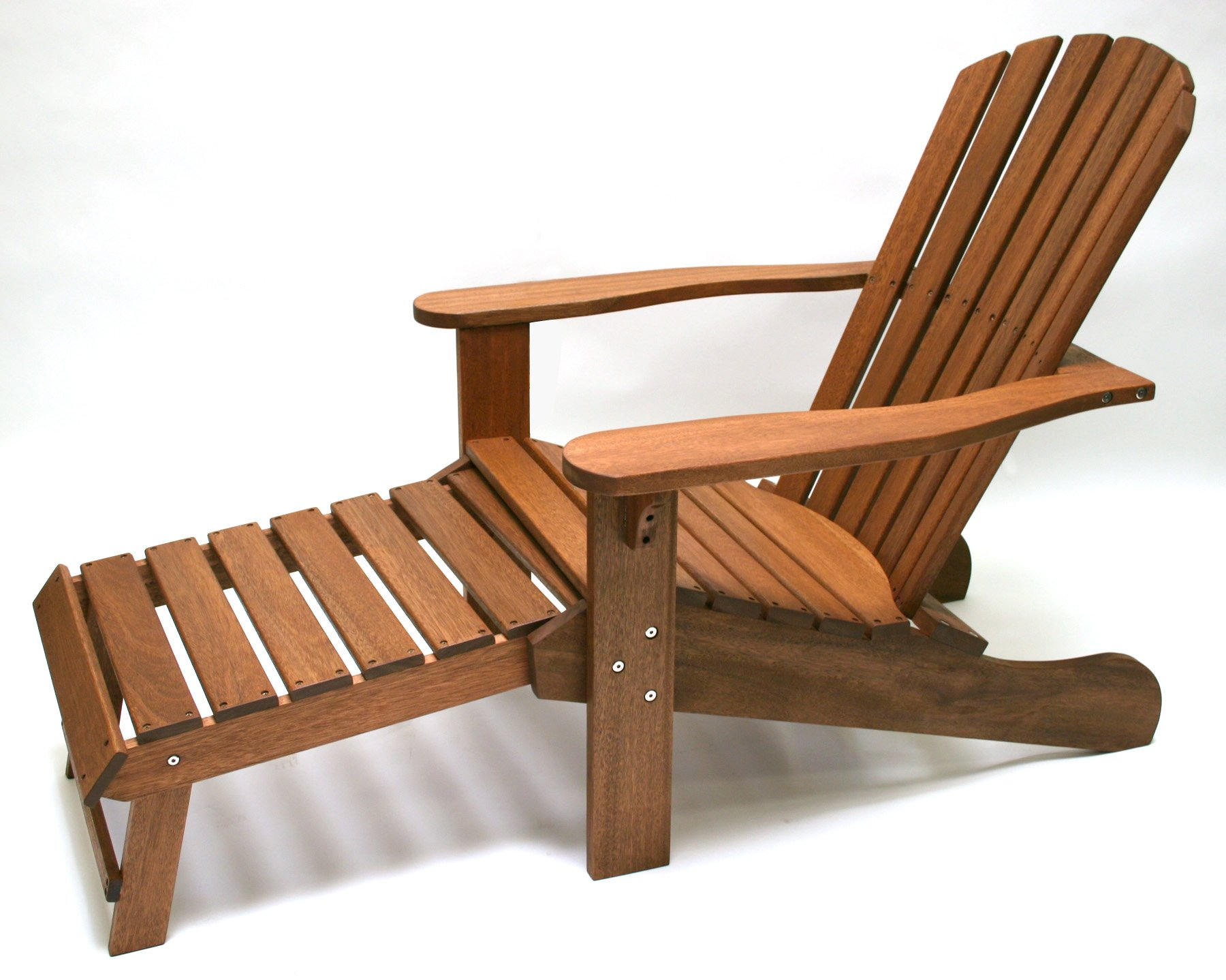 Outdoor Interiors CD3111 Eucalyptus Adirondack Chair and Built In Ottoman by Outdoor Interiors (Image #6)