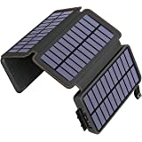 Solar Charger 25000mAh ADDTOP Portable Solar Phone Charger Power Bank with 4 Solar Panels and Dual 2.1A Outputs, Outdoor Exte