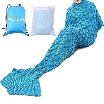 Meerjungfrau Schwanz Decke mit Fisch-Muster - POZEL Ganzjährige ...