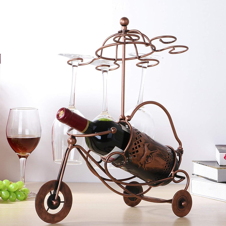 NHP Estante del Vino del Carro de la Flor del Caballo, Estante Creativo del Vino Tinto al revés, Estante del Vino del Hierro del Estilo Europeo