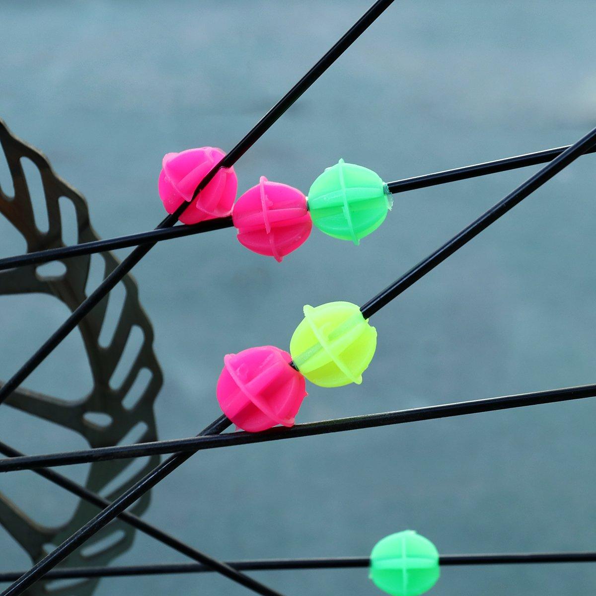 mezcla de color VORCOOL 72pcs bicicleta de rueda de radios de grano de vivos para pinzas de radios de grano de decoraci/ón