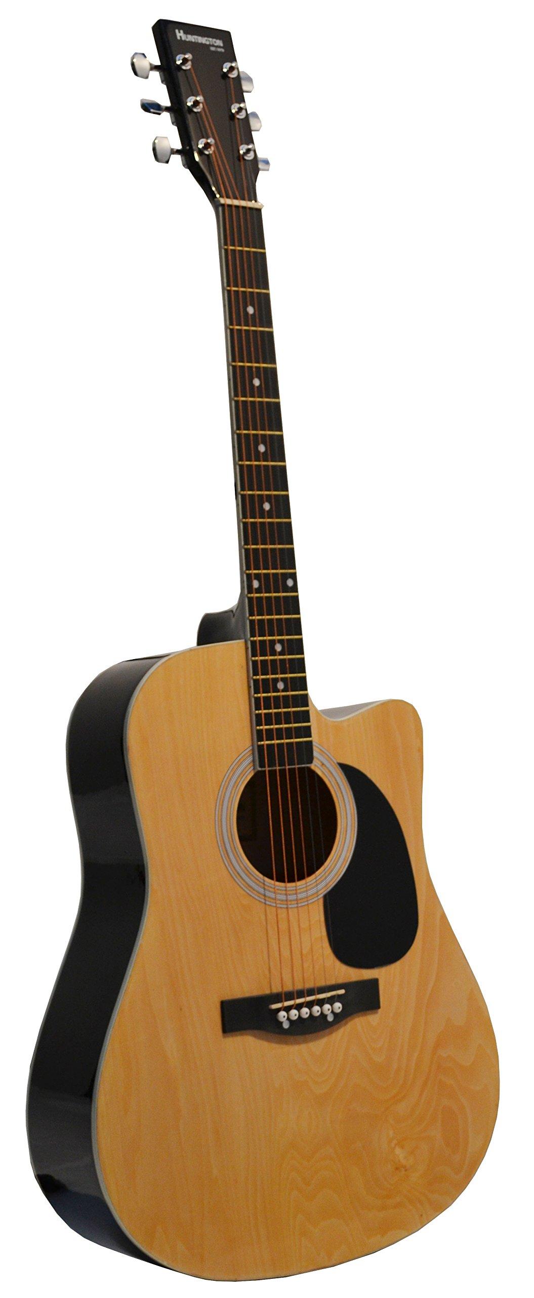 Huntington GA41C-NT Acoustic Cutaway Guitar 41-Inch, Natural