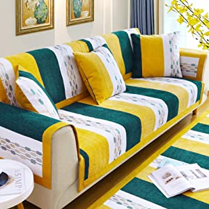 European Style Sofa Cover,1 Piece Sectional Couch Cover,Soft Chenille Anti Slip Sofa Slipcover,Anti Dust Couch Shield Multi Size Furniture Protector-g 90x160cm(35x63inch)