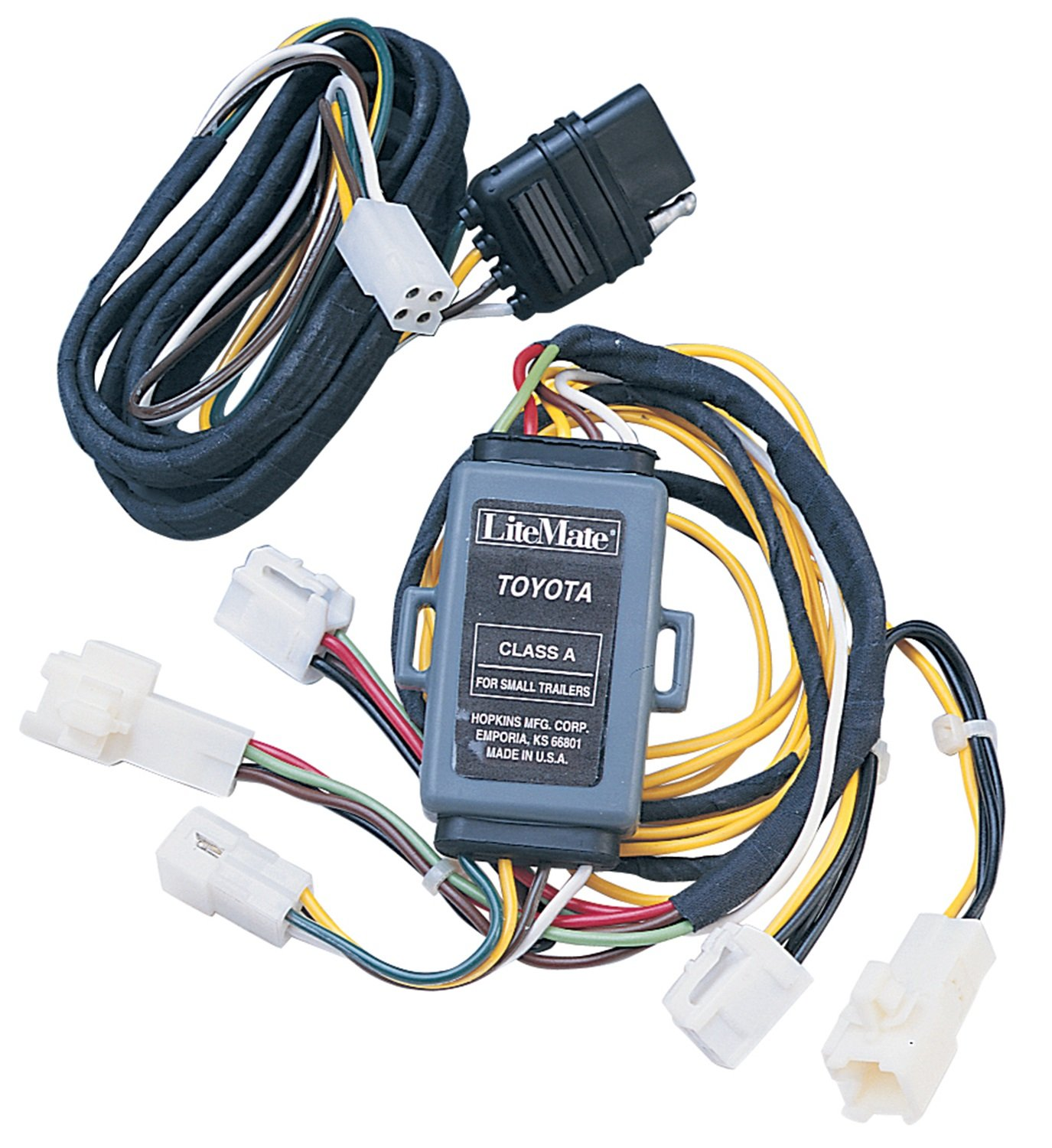 71qZ2WfkXgL._SL1500_ amazon com hopkins 11143405 plug in simple vehicle wiring kit 4 Prong Trailer Wiring Diagram at mifinder.co