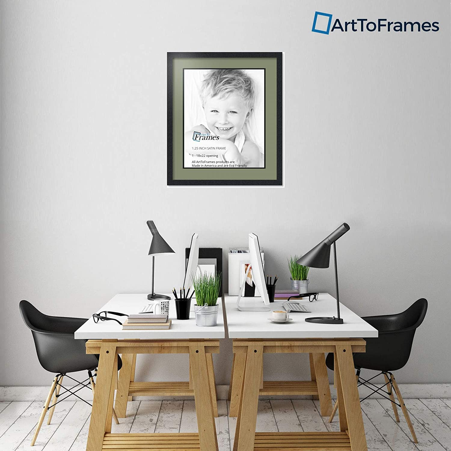 Art to Frames Double-Multimat-653-861//89-FRBW26079 Collage Photo Frame Double Mat with 1-18x22 Openings and Satin Black Frame