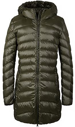 83f48d0c2193 Wenseny Womens Winter Outwear Packable Down Jacket Long Lightweight Hooded  Coat ArmyGreen Small