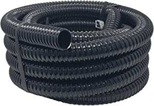 Sealproof Kinkproof 1-1/4 Dia Waterfall, Pond Tubing & Aquarium Hose, 1-1/4-Inch ID, 20 FT, Black, Corrugated, Made in USA