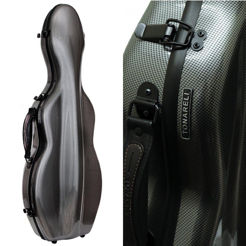 Tonareli Special Edition Violin Fiberglass Case - Graphite - 4/4 VNF1018