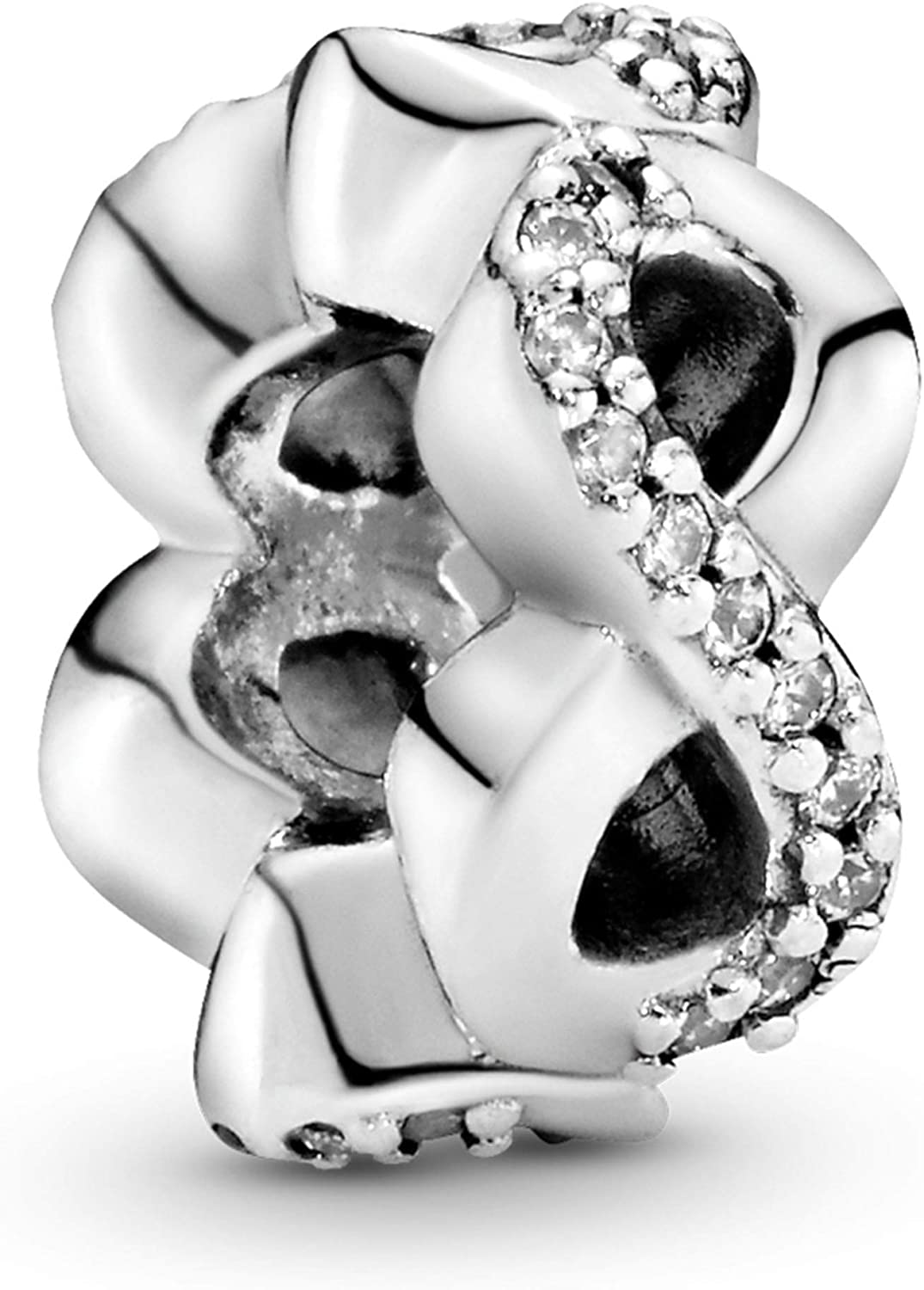 Pandora Jewelry Sparkling Infinity Spacer Cubic Zirconia Charm in Sterling Silver