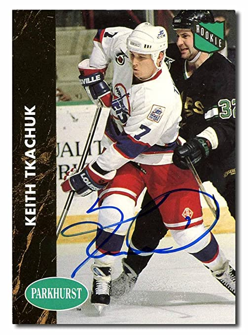 30ccedac0 Keith Tkachuk Autographed 1992-93 Parkhurst Rookie Hockey Card -  Autographed Hockey Cards