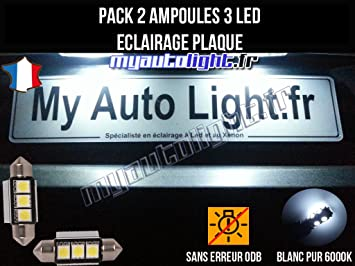 Pack Bombillas LED iluminación placa para Mercedes Clase A W169