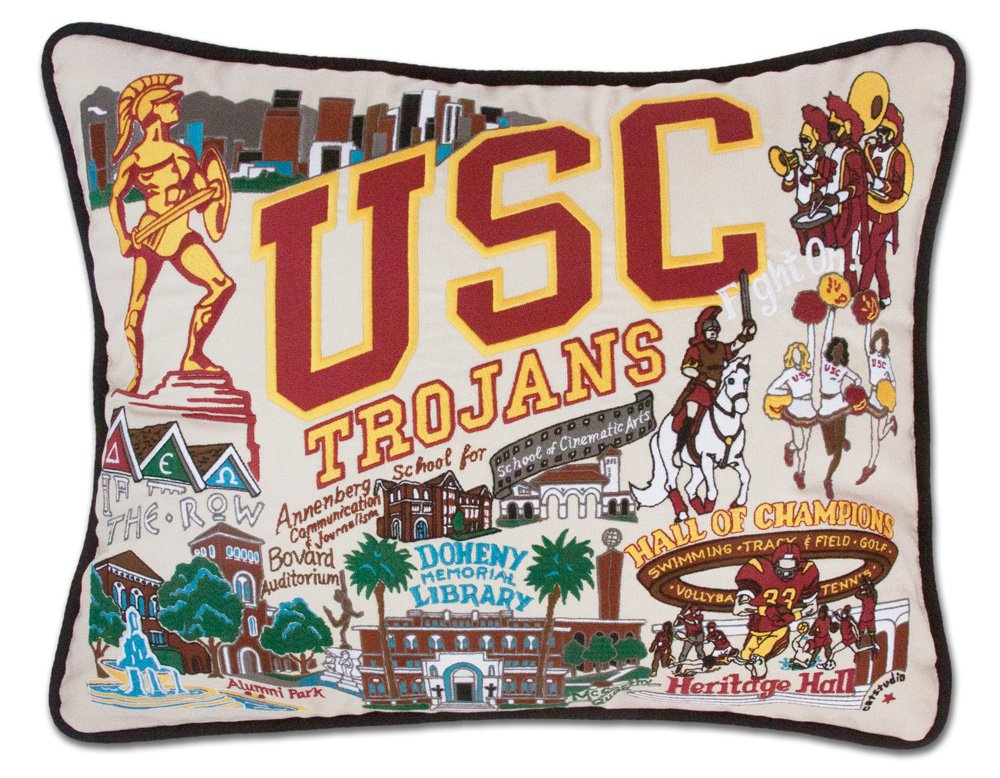 University of Southern California ( USC ) Collegiate刺繍枕 – Catstudio B078567MTZ