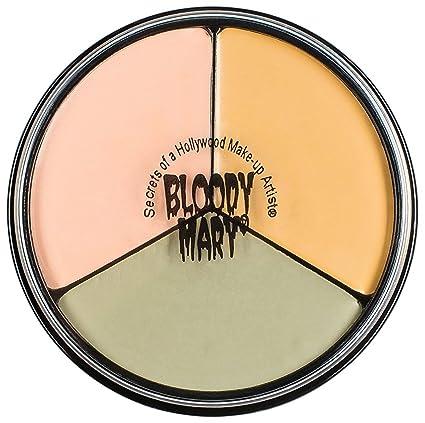 Amazon Com Tri Color Wheel Monster Makeup Cream Death Pale Flesh