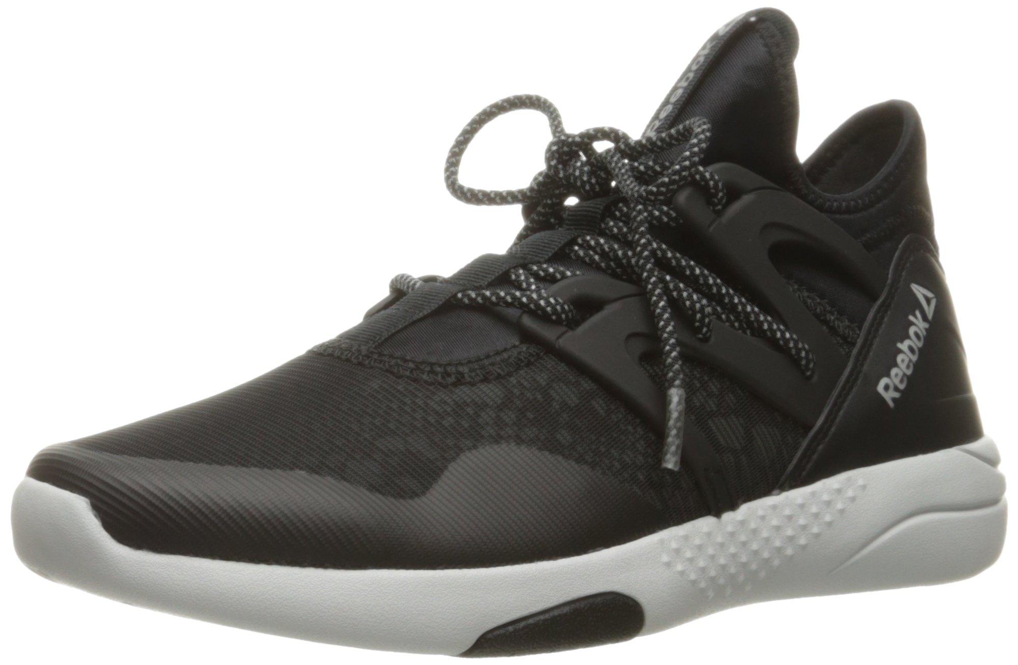 Reebok Women's Hayasu Cross-Trainer Shoe, Black/Skull Grey/Silver Reflective, 8 M US